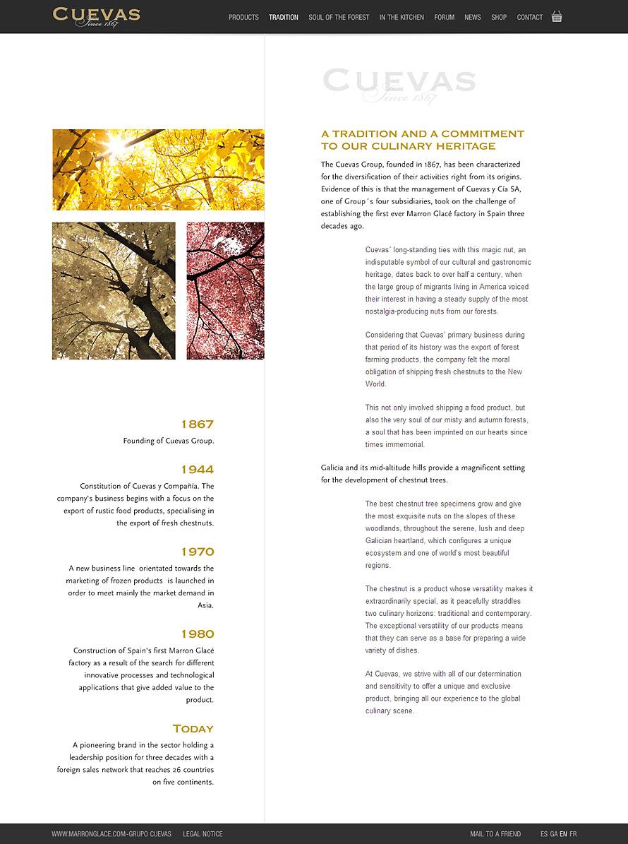 Cuevas & Cía. website